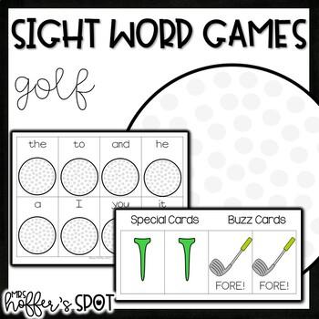 Golf Sight Word Games