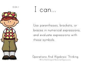 Golf Theme 5th grade math Common Core Posters Fifth Grade