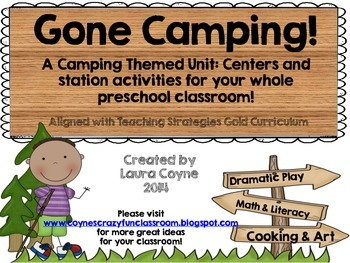 Gone Camping!  A Preschool Unit for Your Classroom