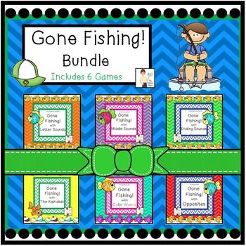 Gone Fishing Literacy Center Games Bundle