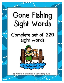 Gone Fishing Sight Words! Complete Set of 220 Sight Words