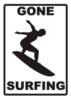 Gone Surfing Poster