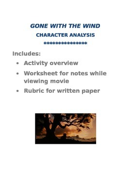 Gone With the Wind - character analysis paper