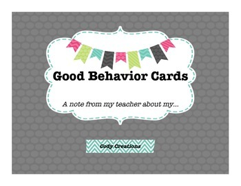 Good Behavior Cards