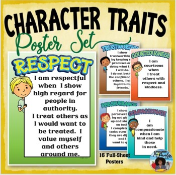 Good Character Traits Poster Pack