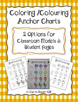 Good Coloring (Colouring) - Anchor Chart