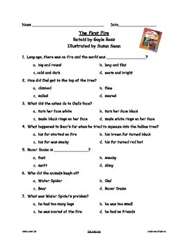 Good Habits, Great Readers The First Fire Comprehension Test