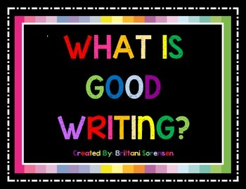Good Handwriting Visual Aide: What Is Good Writing?