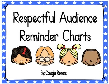 Good Listener/Respectful Audience Reminder Charts (Color Stars)