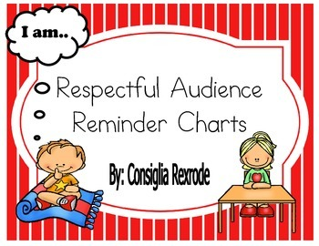 Good Listener/Respectful Audience Reminder Charts (Red Stripes)