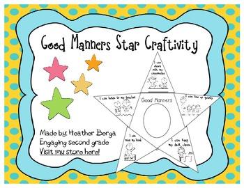 Good Manners Star Craftivity
