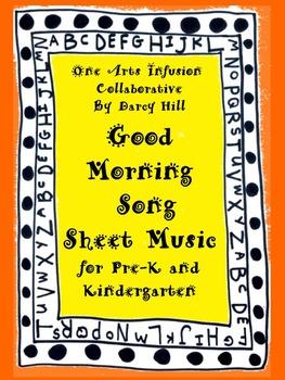 Good Morning Song Sheet Music for Pre-K and Kindergarten
