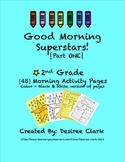 Good Morning Superstars! {45} 2nd Grade Morning Work Activ