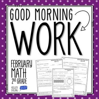 2nd Grade Morning Work (Math - February)