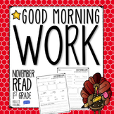 Good Morning Work - Reading - November (1st Grade)