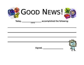 Good News for Positive Behavior