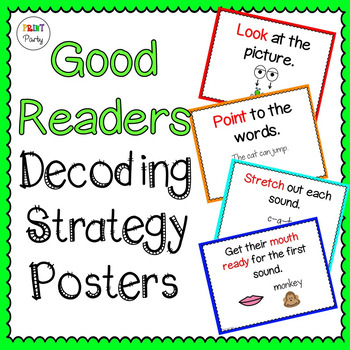 Decoding Strategy Posters Cards