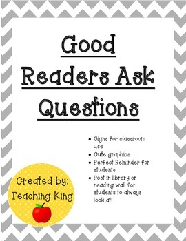 Good Readers: Readers Ask Questions When Reading Chart Sig