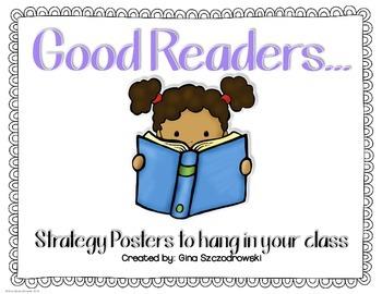 Good Readers... posters {FREEBIE}