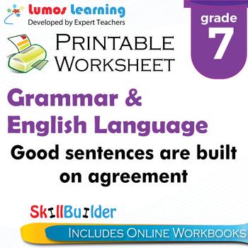 Good Sentences are Built on Agreement Printable Worksheet,