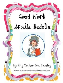 Good Work Amelia Bedelia Printables - 3 worksheets & 1 center