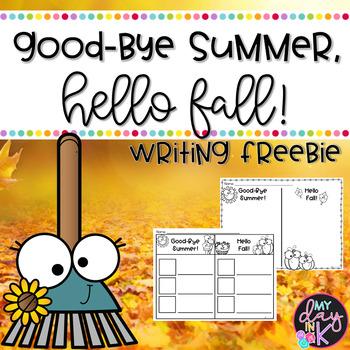 Goodbye Summer, Hello Fall Brainstorming Sheet