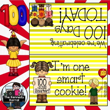 100th Day of School {Goodie Bag Topper}