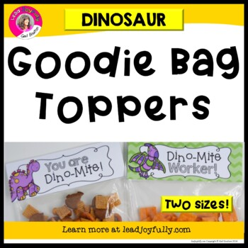 """Goodie Bag"" Toppers for Teachers, Staff, or Students! (Di"