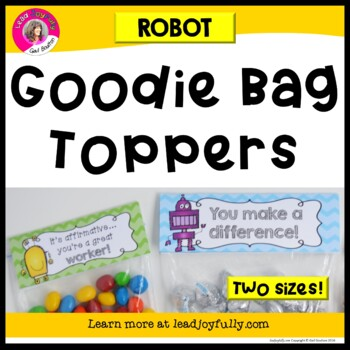 """""""Goodie Bag"""" Toppers for Teachers, Staff, or Students! (Ro"""
