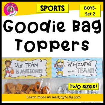 Goodie Bag Toppers for Teachers, Staff, or Students (Sport