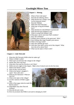 Goodnight Mister Tom - Close Reading Questions