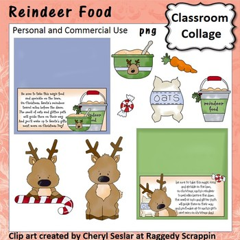 Reindeer Food - Color - pers & comm bag toppers carrot oat