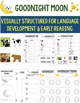Goodnight Moon Unit- Visual Structure for Early Reading &