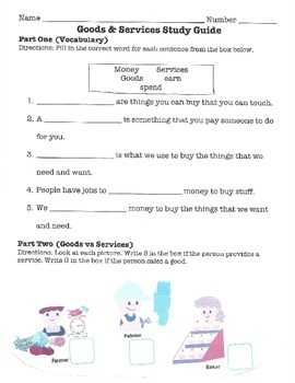 Goods & Services Test & Study Guide