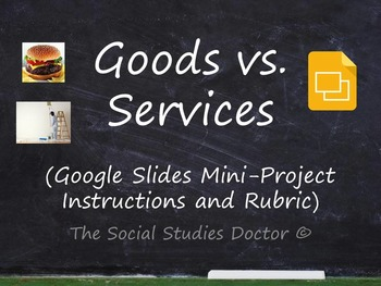 Goods and Services (Google Slides mini-Project instruction