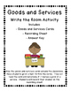 Goods and Services Resource Pack