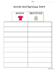 Goods and Services Sort and Recording Sheet