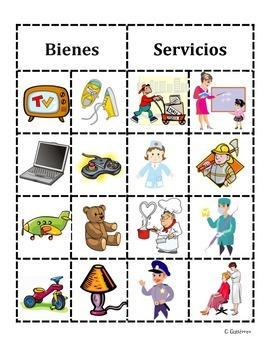 Goods and Services bilingual sort
