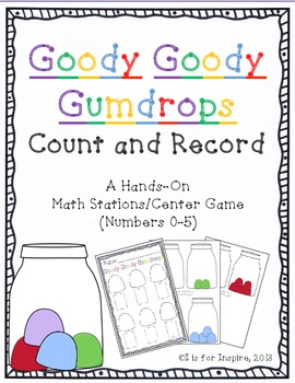 Goody Goody Gumdrops: Count & Record Differentiated Center