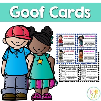Goof Cards Homework Rewards PBIS