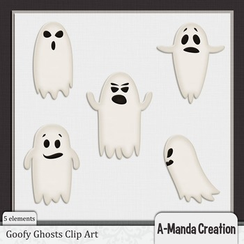 Goofy Ghosts Clip Art