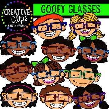 Goofy Glasses Kids {Creative Clips Digital Clipart}
