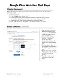 Google Class Websites: First Steps