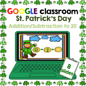 Google Classroom Addition and Subtraction to 20 FREEBIE St