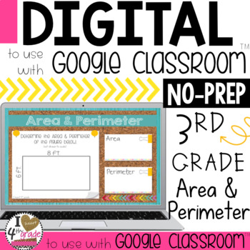 Google Classroom Area and Perimeter Digital Task Cards