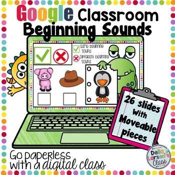 Google Classroom Beginnig Sound Match - Monster Themed