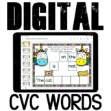 Google Classroom CVC reading sentences {set 1}