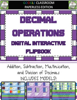 Google Classroom Decimal Operations Digital Flipbook
