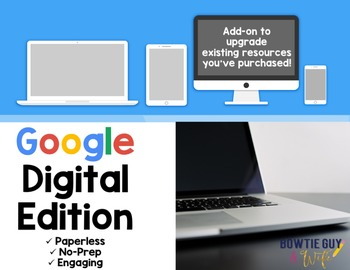 Google Classroom Digital Add on for Paperless Classrooms a