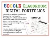 Google Classroom: Digital Portfolios/ E-Portfolios by Quarter!